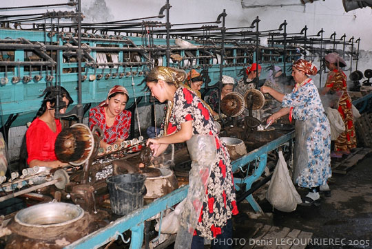 Margilan traditional (Yodgorlik, souvenir) silk factory