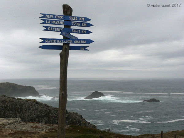 belle ile pancarte distances