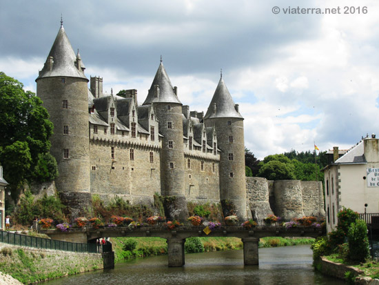 castle in josselin, brittany