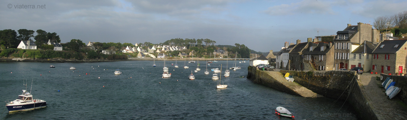 panoramic view of the old harbour of le conquet in brittany. Black Bedroom Furniture Sets. Home Design Ideas