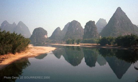 Yangshuo river reflection
