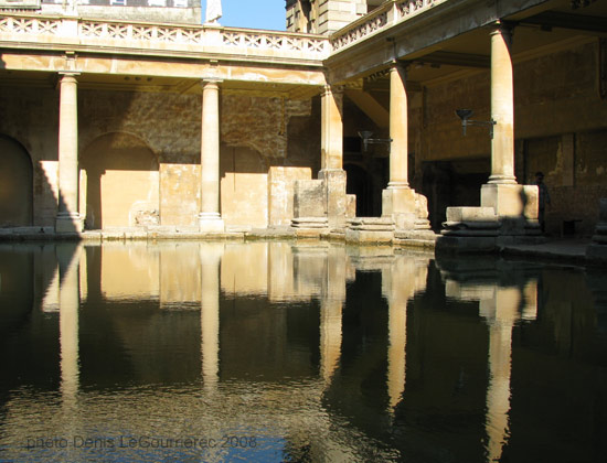 reflections roman bath england