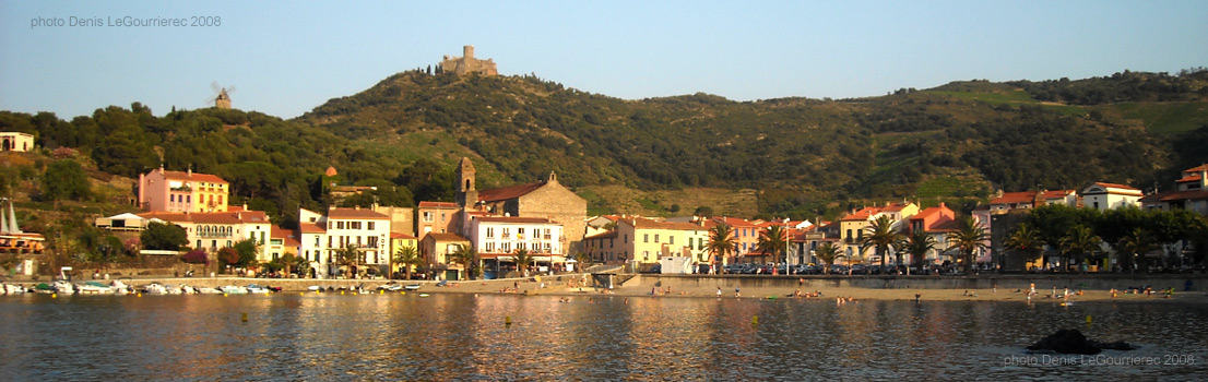 Panoramic view collioure for Le pamir nantes
