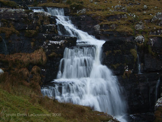 Waterfall near Annascaul lake