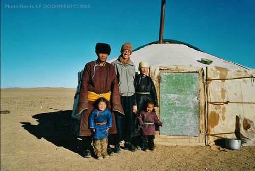 Host family in the Gobi