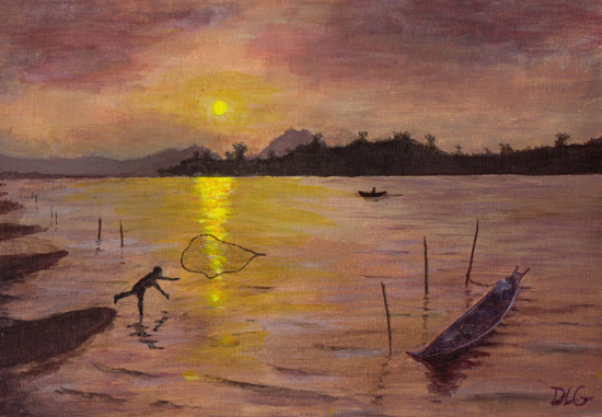painting laos