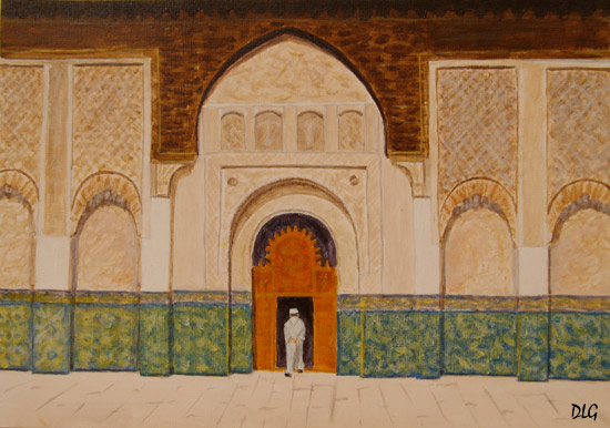 Marrakech painting
