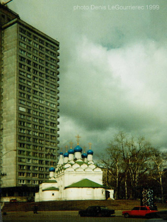 moscow church concrete block
