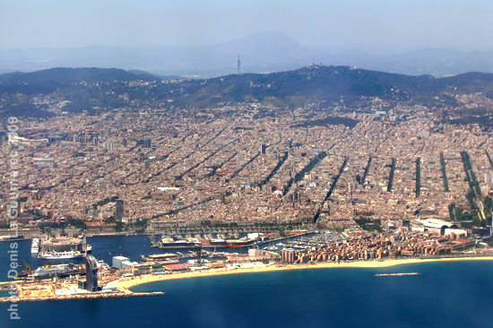 Barcelona from the plane