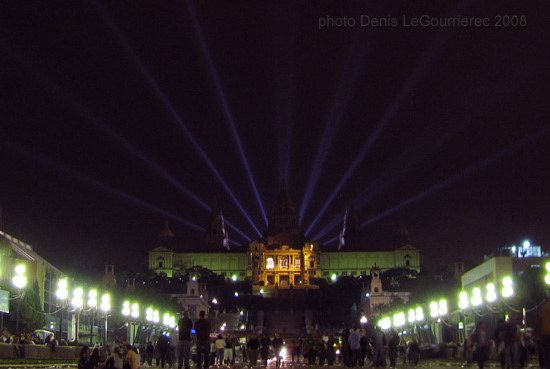 plaza espanya at night