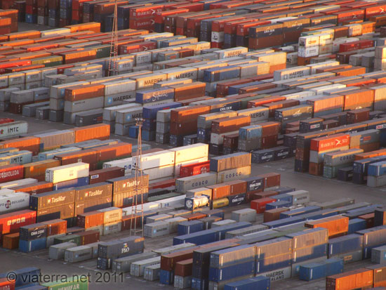 barcelona containers commercial harbour