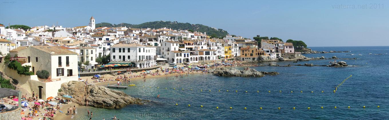 Panoramic View Of Calella De Palafrugell