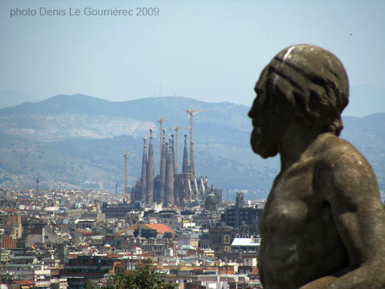 sagrada familia from montjuic