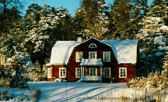 typical traditional swedish house