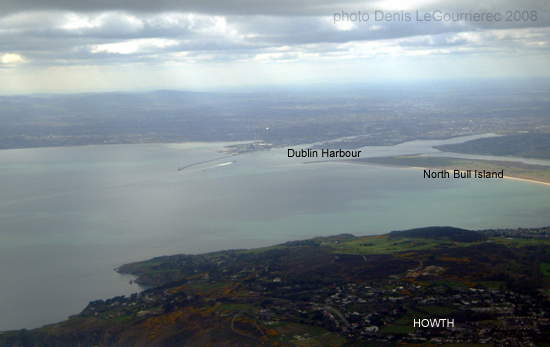 dublin bay from above