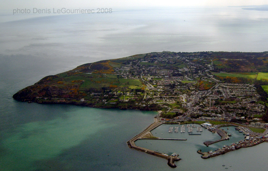 aerial view of howth