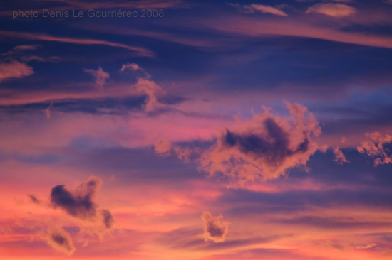 zoom sunset clouds